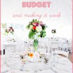 Cách lập ngân sách cho đám cưới
